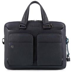 Стильная и практичная мужская деловая сумка из натуральной плотной кожи от Piquadro, арт. pq-472242