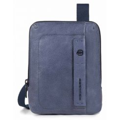 Мужская сумка планшет из натуральной кожи с карманом для смартфона от Piquadro, арт. CA3084P15/BLU3