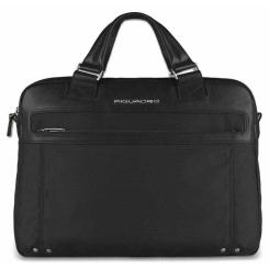 Мужская кожаная деловая сумка большого размера, модель для ноутбука и документов от Piquadro, арт. CA3339LK/N