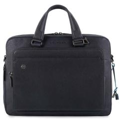 Большая мужская деловая сумка из натуральной кожи, для ноутбука и документов от Piquadro, арт. CA4027B3/BLU