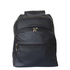 Черный строгий рюкзак, выполненный из качественной кожи от Ricadi, арт. 107/01