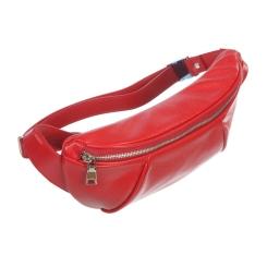 Яркая женская поясная сумка красного цвета из натуральной кожи от Sergio Belotti, арт. 3419 red