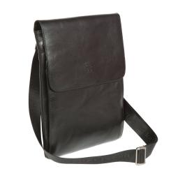 Мужская сумка планшет из натуральной черной кожи, вмещает формат А4 от Sergio Belotti, арт. 9518 milano black