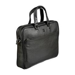 Деловая мужская сумка из натуральной кожи для документов и ноутбука от Sergio Belotti, арт. 010-2811 denim black