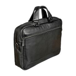 Большая мужская сумка из натуральной кожи для документов и ноутбука от Sergio Belotti, арт. 010-2813 denim black