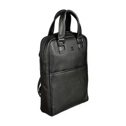 Модный городской мужской рюкзак трансформер из натуральной кожи от Sergio Belotti, арт. 011-0661 denim black