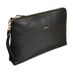 Аккуратная женская сумка через плечо из черной натуральной кожи от Sergio Belotti, арт. 012-2385 Verona black