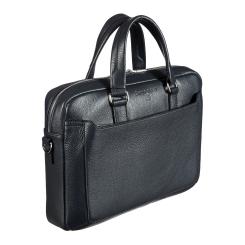 Стильная мужская деловая сумка из натуральной кожи, для документов и ноутбука от Sergio Belotti, арт. 7025 Napoli blue