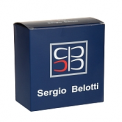 Мужской ремень Sergio Belotti 7367/40 Nero Argento
