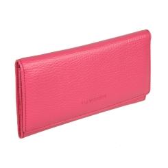 Элегантный женский кошелек из натуральной кожи розового цвета от Sergio Belotti, арт. 1075 livorno pink