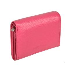 Стильный женский кошелек из розовой рельефной натуральной кожи от Sergio Belotti, арт. 2730 livorno pink
