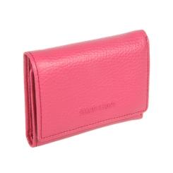 Кожаный кошелек розового цвета с внешней монетницей на кнопке от Sergio Belotti, арт. 3118 livorno pink