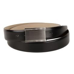 Мужской ремень для брюк, выполнен из черной натуральной кожи на подкладке от Sergio Belotti, арт. 4906/35 Nero Pal Rutenio