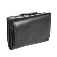 Классическое мужское портмоне из натуральной кожи черного цвета от Sergio Belotti, арт. 2101 milano black