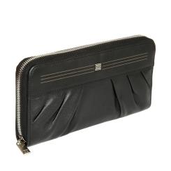 Классический женский кошелек из черной натуральной кожи, модель на молнии от Sergio Belotti, арт. 3160 west black
