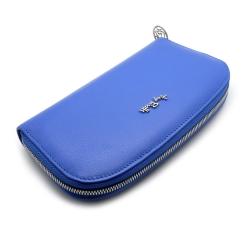 Стильный женский кошелек синего цвета, модель из натуральной кожи от Tony Perotti, арт. 313398/22