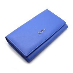 Ярко-голубой женский кошелек из натуральной кожи с тремя отделами от Tony Perotti, арт. 313400/22