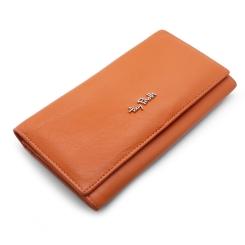 Оранжевый женский кошелек из натуральной кожи с двумя отделами от Tony Perotti, арт. 313413/7