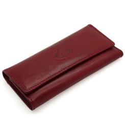 Элегантная ключница красного цвета из натуральной кожи от Tony Perotti, арт. 331012/4