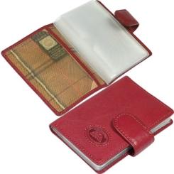 Стильная визитница красного цвета, выполнена из натуральной кожи от Tony Perotti, арт. 331016/4