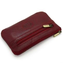 Стильная ключница на молнии, выполнена из красной натуральной кожи от Tony Perotti, арт. 331041/4