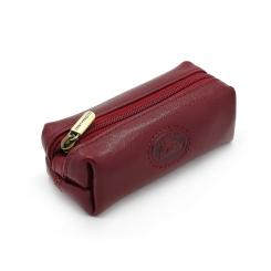 Практичная ключница красного цвета, модель с внешним карабином от Tony Perotti, арт. 331042/4
