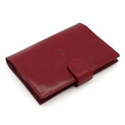 Функциональная обложка для документов из натуральной кожи красного цвета от Tony Perotti, арт. 331096А/4