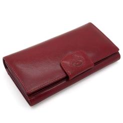 Модный женский кошелек красного цвета, выполнен из натуральной кожи от Tony Perotti, арт. 331116/4
