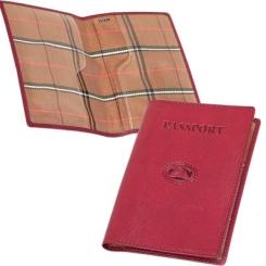 Стильная обложка для паспорта красного цвета из натуральной кожи от Tony Perotti, арт. 331235/4