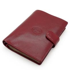 Стильная обложка для паспорта из натуральной кожи бордового цвета от Tony Perotti, арт. 331236/4