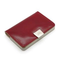 Яркая визитница красного цвета, выполнена из натуральной кожи от Tony Perotti, арт. 331244/4