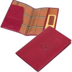 Яркая обложка для паспорта красного цвета, выполнена из натуральной кожи от Tony Perotti, арт. 331290/4