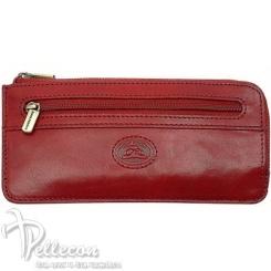 Модная ключница из красной натуральной кожи, закрывается на молнию от Tony Perotti, арт. 331294/4