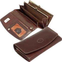 Практичный женский кошелек из коричневой натуральной кожи от Tony Perotti, арт. 333066/2