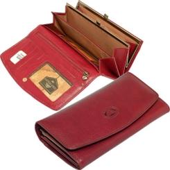 Модный женский кошелек красного цвета, выполнен из натуральной кожи от Tony Perotti, арт. 333066/4
