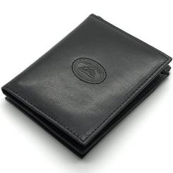 Стильный мужской зажим для денег из натуральной кожи черного цвета от Tony Perotti, арт. 333150/1