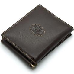 Элегантный мужской зажим для денег из коричневой натуральной кожи от Tony Perotti, арт. 333150/2