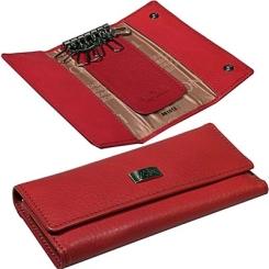 Элегантная кожаная ключница красного цвета, модель удлиненного формата от Tony Perotti, арт. 561012/4