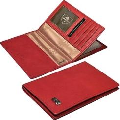 Обложка для паспорта и автодокументов красного цвета из натуральной кожи от Tony Perotti, арт. 561096/4