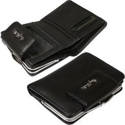 Кожаный женский кошелек черного цвета, с внешней монетницей от Tony Perotti, арт. 561120/1