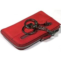Стильная ключница красного цвета из натуральной кожи от Tony Perotti, арт. 561194/4