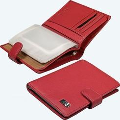 Стильная кожаная обложка для автодокументов, модель красного цвета от Tony Perotti, арт. 563069/4