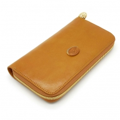 Вместительный женский кошелек рыжего цвета из плотной натуральной кожи от Tony Perotti, арт. 991442/5