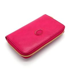 Яркий женский кошелек красного цвета из натуральной кожи, модель на молнии от Tony Perotti, арт. 993401/15