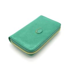 Красивый женский кошелек зеленого цвета из натуральной кожи с удобной молнией от Tony Perotti, арт. 993401/18