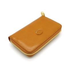 Стильный женский кошелек рыжего цвета из натуральной кожи с удобной молнией от Tony Perotti, арт. 993401/5