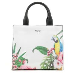 Женская классическая сумка, украшенная изображением тропических птиц от Tosca blu, арт. 13B