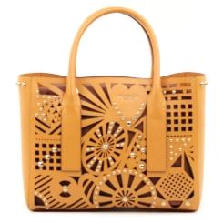 Оригинальная женская сумка из натуральной кожи с вырезанным узором от Tosca blu, арт. 111B