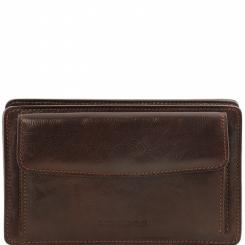 Мужской кожаное портмоне с ремешком для ношения на запястье от Tuscany Leather, арт. Denis TL141445