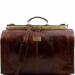Мужской саквояж для путешествий, выполнен из плотной натуральной кожи от Tuscany Leather, арт. MADRID TL1022